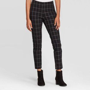 A New Day Plaid Plaid High Rise Skinny Ankle Pants